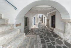 Parikia, Paros, Griekenland stock afbeeldingen