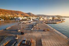 Parikia on Paros island. Stock Photos
