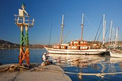 Parikia on Paros island. Stock Images