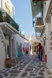 Parikia on Paros island. Royalty Free Stock Images