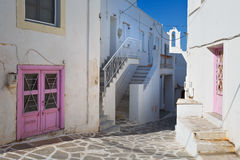 Parikia on Paros island. Royalty Free Stock Photo