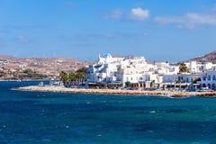 Paros island aerial view stock images