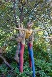 Parikkala Finlandia, Sierpień, - 21, 2015: Rzeźby artystą Veijo Ronkkonen w jego rzeźba parku Parikkalan Fotografia Stock