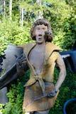 Parikkala Finlandia, Sierpień, - 21, 2015: Rzeźby artystą Veijo Ronkkonen w jego rzeźba parku Parikkalan Zdjęcie Royalty Free