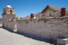 Parinacota Church Royalty Free Stock Images
