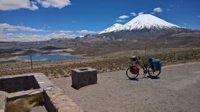 Parinacota and Pomerape - Sajama national park. Parinacota and Pomerape view from the chilean side Royalty Free Stock Photo