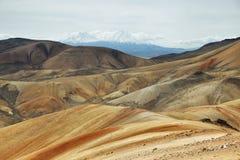 Parinacota and Pomerape viewed from. Cerro Milagro, Lauca national park, Chile Stock Photo