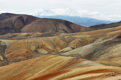 Parinacota and Pomerape viewed from Cerro Milagro. Lauca national park, Chile Royalty Free Stock Photography