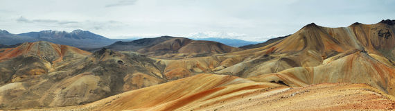 Parinacota and Pomerape viewed from Royalty Free Stock Images