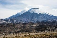 Parinacota Volcano, Lauca, Chile Royalty Free Stock Photos