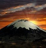 parinacota vulcano royalty ilustracja