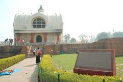 Parinirvana Stupa und Tempel, Kushinagar, Indien lizenzfreie stockfotos