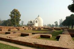 Parinirvana Stupa und Tempel, Kushinagar, Indien stockfotografie