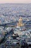 Paris à l'aube à partir du dessus Images stock
