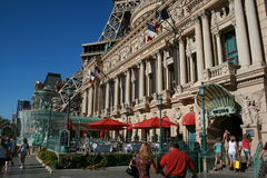 Paris à Las Vegas. Being in Las Vegas and Imagining yourself in Paris. This beautiful reproduction of french architecture can be admire in Las Vegas; oh la la Royalty Free Stock Photo
