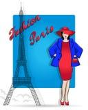 Paris é o capital da forma Compra e acessórios ilustração stock