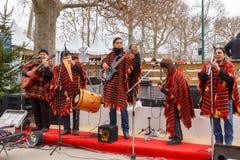 paris Музыканты улицы стоковая фотография