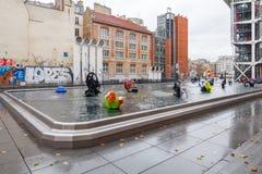 paris фонтан stravinsky Стоковые Фото