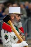 paris Франция 14-ое июля 2012 Пионеры французского иностранного легиона во время парада на Champs-Elysees Стоковая Фотография