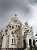 Paris. White church in the center of Paris Stock Photography