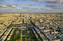 Paris. From eiffel tower, the mart fields Royalty Free Stock Image