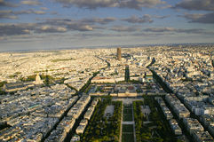 Paris. From eiffel tower, the mart fields Stock Image