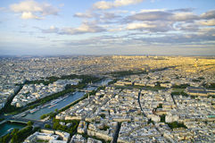 Paris. From eiffel tower, the Siene river Royalty Free Stock Images