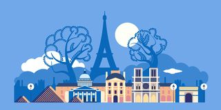 France, the city of Paris. The architecture of the city. royalty free illustration