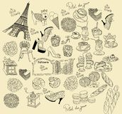 символы paris Стоковое Изображение