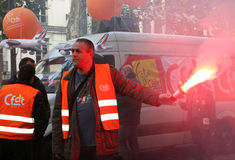 забастовка выхода на пенсию paris Стоковые Изображения RF