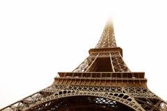 Paris #17. The Eiffel Tower in Paris, France.   Sepia tone, Digital artwork. Copy space Stock Photo