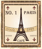 Paris. Grungy parisian coffee background. Graphics are grouped and in several layers for easy editing Royalty Free Illustration