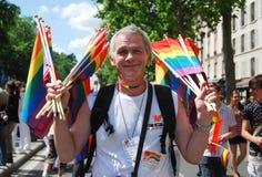Paris 2009 homoseksualnych dum Fotografia Stock