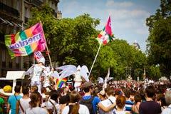 Paris 2010 homoseksualnych dum Zdjęcia Royalty Free