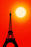 Paris. The Eifel tower in paris during sunst hour Royalty Free Stock Photos