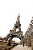 Paris #23. The Eiffel Tower in Paris, France. Sepia tone. Copy space Stock Images