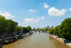 Paris. The river Seine in Paris Royalty Free Stock Image
