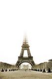 Paris #26. The Eiffel Tower in Paris, France. Sepia tone, Copy space Stock Images