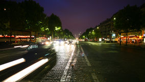 Paris. Near arc de triomphe at night Stock Image