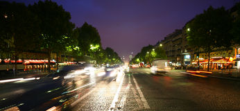 Paris. Near arc de triomphe at night Royalty Free Stock Photography