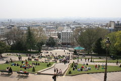 Paris - 4. A view of Paris from the area Montmartre Royalty Free Stock Images