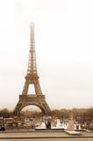 Paris #47. The Eiffel Tower in Paris, France.  Sepia tone Stock Images