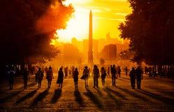 заход солнца paris Стоковые Изображения