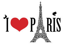 я люблю paris Стоковые Фотографии RF