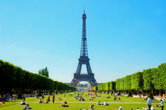 Paris. Eiffel tower - beautiful day in France royalty free stock photos