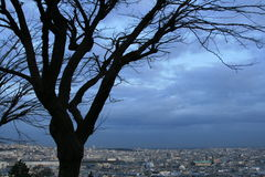 Paris. View from Montmartre at evening Stock Photography