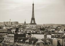Paris aérea - 1283 fotografia de stock