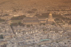 Paris from above. View of Paris on autumn, almost night Royalty Free Stock Photo