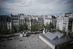 Paris from above. View of the horizon, France Stock Photography