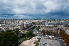 Paris from above. View on Paris from above, Eiffel tower on the center in background Royalty Free Stock Images